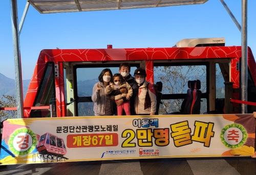 문경관광진흥공단(이사장 금옥경)문경단산모노레일 10월 23일 이용객 2만명 돌파, 안전운행 최선 다한다 !!